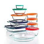 19-Piece Pyrex Bake, Store and Prep Set with Colored Lids $25 Free store pickup t Macys