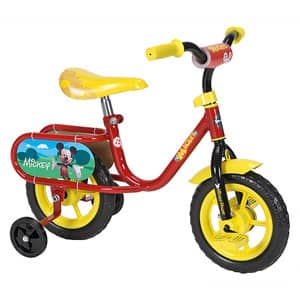 "10"" Huffy Disney Mickey or Minnie Mouse Kids' Bike $26, 20"" Boys' Huffy Rock It Bike (Black) or 20"" Girls' Huffy Sea Star Bike (Pink) $39"