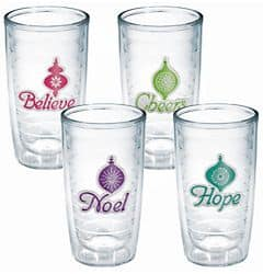 2x 4-Pack of 16-Oz Tervis Holiday Tumblers: Christmas Lights, Holiday, Holiday Flamingo, or Festive Flip Flop $22.50