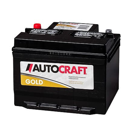 AutoCraft Gold Car Battery (590 CCA) $58 or Less after $25 rebate + Free In Store Pick-Up
