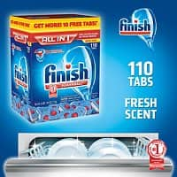 Costco Wholesale Deal: 2x 110-count Finish All-in-One Dishwasher Detergent Powerball Tablets