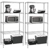Target Deal: 2-Pack Room Essentials 5-Tier Shelving (Chrome)