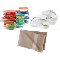 Kohls Deal: 20-Pc Pyrex Storage Set + 11-Pc Corningware Set + Bath Towel + $15 in Kohl's Cash