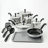 Kohls Deal: 15-Pc Farberware Classic Stainless Steel Cookware Set + $15 in Kohl's Cash