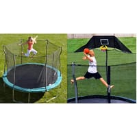 Sears Deal: 12' Propel Trampoline w/ Enclosure + Trampoline Basketball Hoop