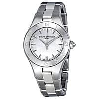 JomaShop Deal: Baume and Mercier Ladies Linea Silver Dial Stainless Steel Watch