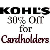 Kohls Deal: Kohl's Cardholders Coupon for Online Orders