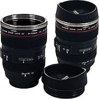Staples Deal: 2-Pack 12-Oz Camera Lens Mugs w/ Travel Lids