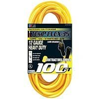 Home Depot Deal: 100' 12-Gauge 15-Amp Outdoor Extension Cord (12/3)