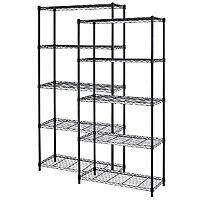 "eBay Deal: 2-Pack of 5-Shelf Home Office Steel Wire Shelving 72""x36""x14"" Storage Rack $90 + free shipping"