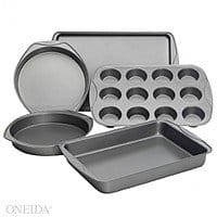 Oneida Deal: 5-Pc Bakeware Set $15.25, 4-Pc Canister Set