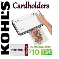 Kohls Deal: FoodSaver FM2110 Sealer + $30 Kohl's Gift Card + $10 Kohl's Cash