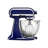 Macy's Deal: 5-Quart KitchenAid KSM105GBC Stand Mixer w/ Glass Bowl & Flex Edge Beater (cobalt, red, chrome) $216 + Free Shipping