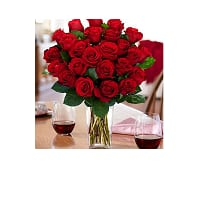 $30 Worth of Proflowers Products for $13.50, 2-Dozen Red Roses + Square Glass Vase  $29.50