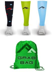 Pro Compression Calf Sleeve Grab Bag (3 pairs of random selected color/logo) for $33 + free s/h
