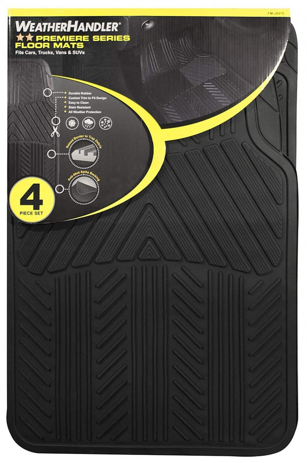 WeatherHandler All Season 4 pc. Rubber Floor Mat Set $9.99 (reg. 24.99) @ Sears.com