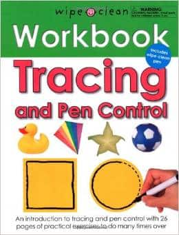 Wipe Clean Workbook Tracing and Pen Control (Spiral Bound)  $4.60
