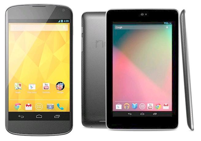 Refurbished: 8GB LG Nexus 4 Phone + 16GB Asus Nexus 7 1st Gen Tablet  $160 + Free Shipping