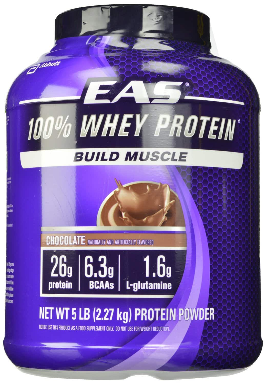 5-Pounds EAS 100% Whey Protein (Chocolate or Vanilla)  $29 + Free Shipping