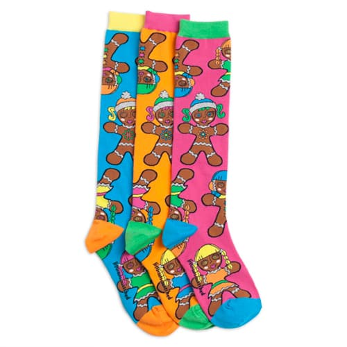 Little Miss Matched Coupon: Free Girls' Gingerbread Sock Set w/ Purchase: Items  from $2 + Free Shipping