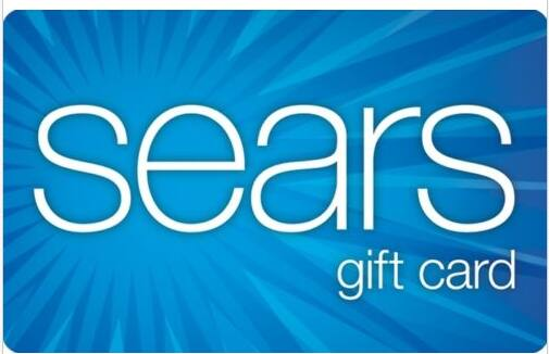 $100 Sears Gift Card  $80 + Free Shipping