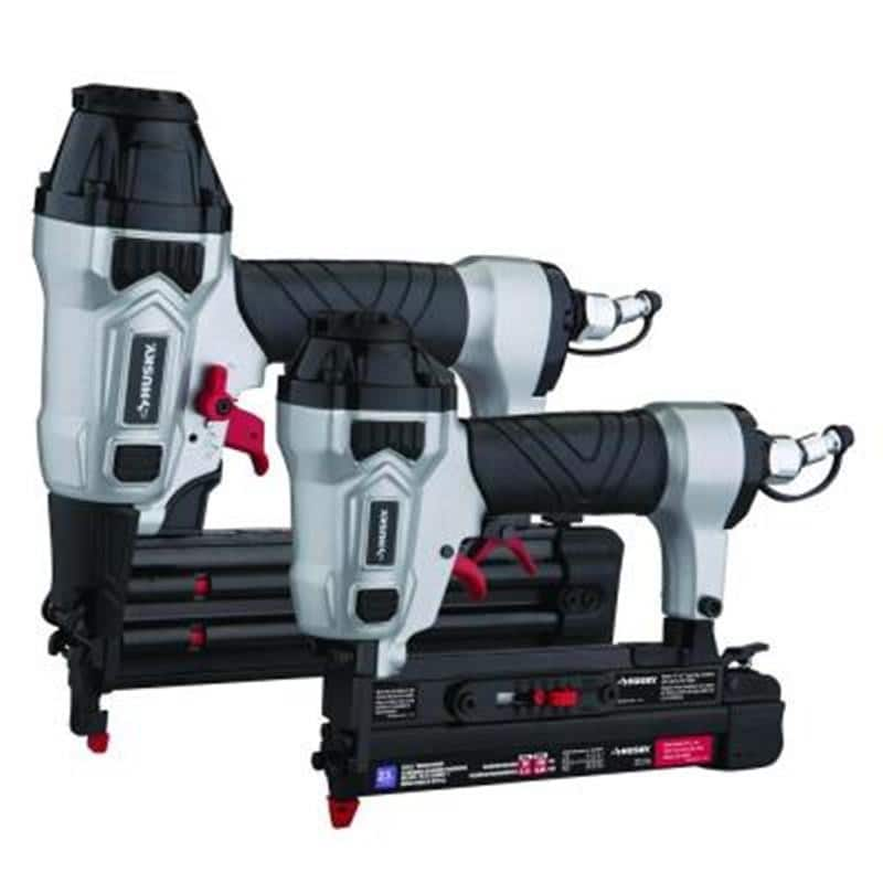 2-Piece Husky Pneumatic Finish Nailer Kit: Brad Nailer & Micro Pin Nailer (Grade-A Reconditioned) for $35 with free shipping