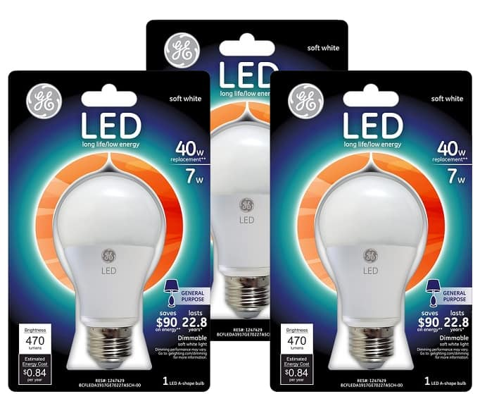 Target GE LED Light bulb Sale 3/1 to 3/7
