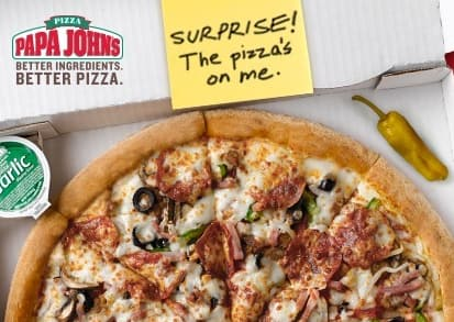 Papa John's: Free Large Pizza w/ eGift Card Purchase  $25
