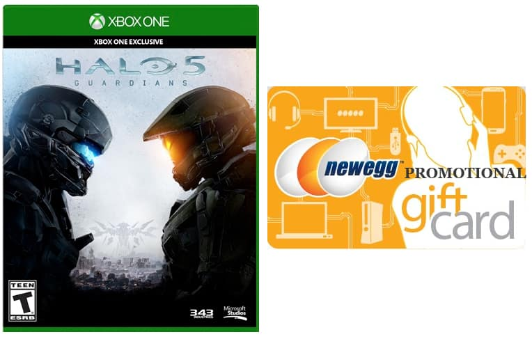 Halo 5: Guardians (Xbox One) + $20 Newegg Gift Card  $59.10 + Free Shipping