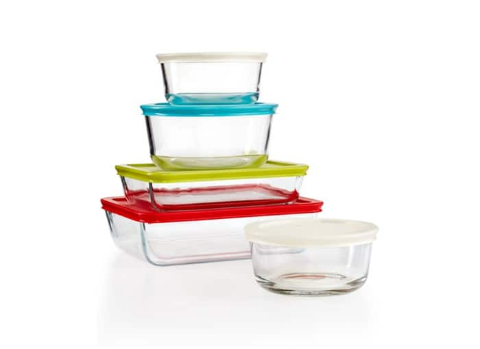 20-Piece Pyrex Simply Store Set w/ Colored Lids $24 + free shipping (2x 10-Piece Sets)