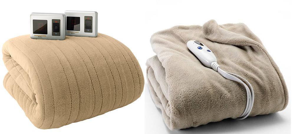 Biddeford Plush Heated Electric Blanket (Queen) + Biddeford Heated Plush Throw + $15 in Kohls Cash $61.94 + free Shipping
