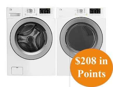 Kenmore Front-Load Washer & Dryer + $208 in Points  $800 + Free Shipping