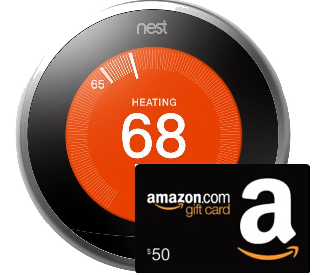 Nest Learning Thermostat (3rd Gen) + $50 Amazon Gift Card  $249 + Free Shipping