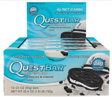 Quest Nutrition: 25% Off Protein Bars: 12-Ct Box (Various)  $18.75 + Free Shipping