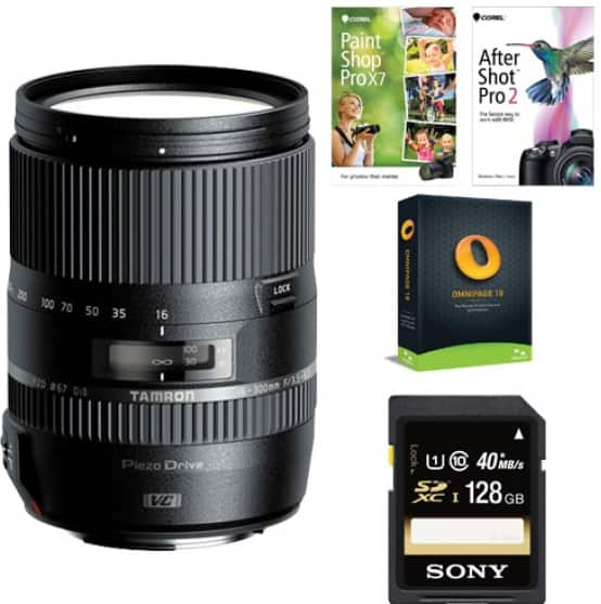 Tamron 16-300mm F/3.5-6.3 Di-II VC PZD Macro Lens (Canon, Nikon) + 128GB Memory Card $449 after $130 rebate & $50 slickdeals rebate + free shipping