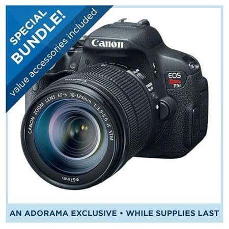 Canon T5i DSLR Camera + 18-135mm STM Lens + Pro-100 Printer  $500 After $350 Rebate + Free S&H