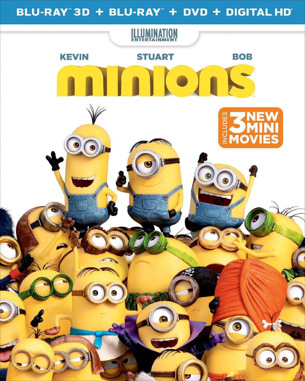 Minions (3D + Blu-ray + DVD + DIGITAL HD) $16.99 Shipped