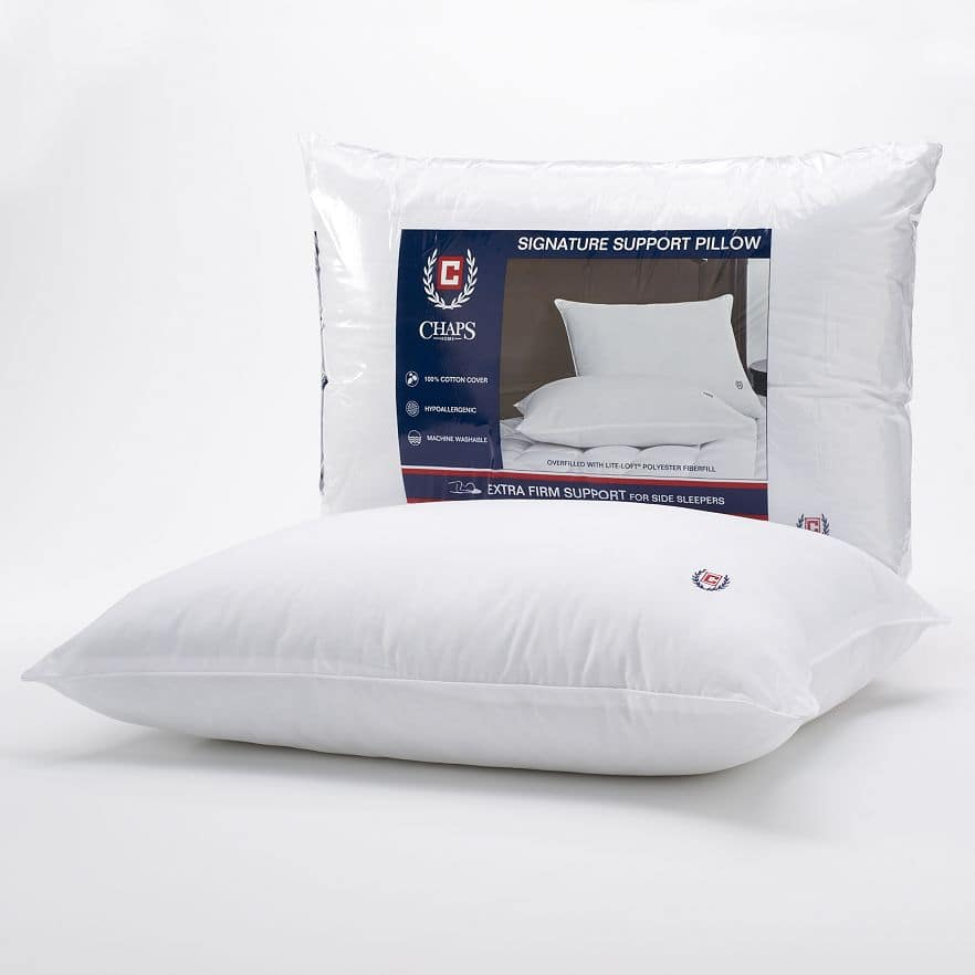 Discover Cardholders: Chaps Signature Extra Firm Density Pillow  Free + Free Store Pickup