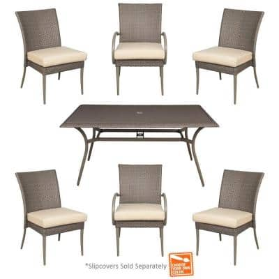 Hampton Bay Posada 7-Piece Patio Dining Set with Cushion Insert (bare cushions) - $268 & More + FS @ Homedepot