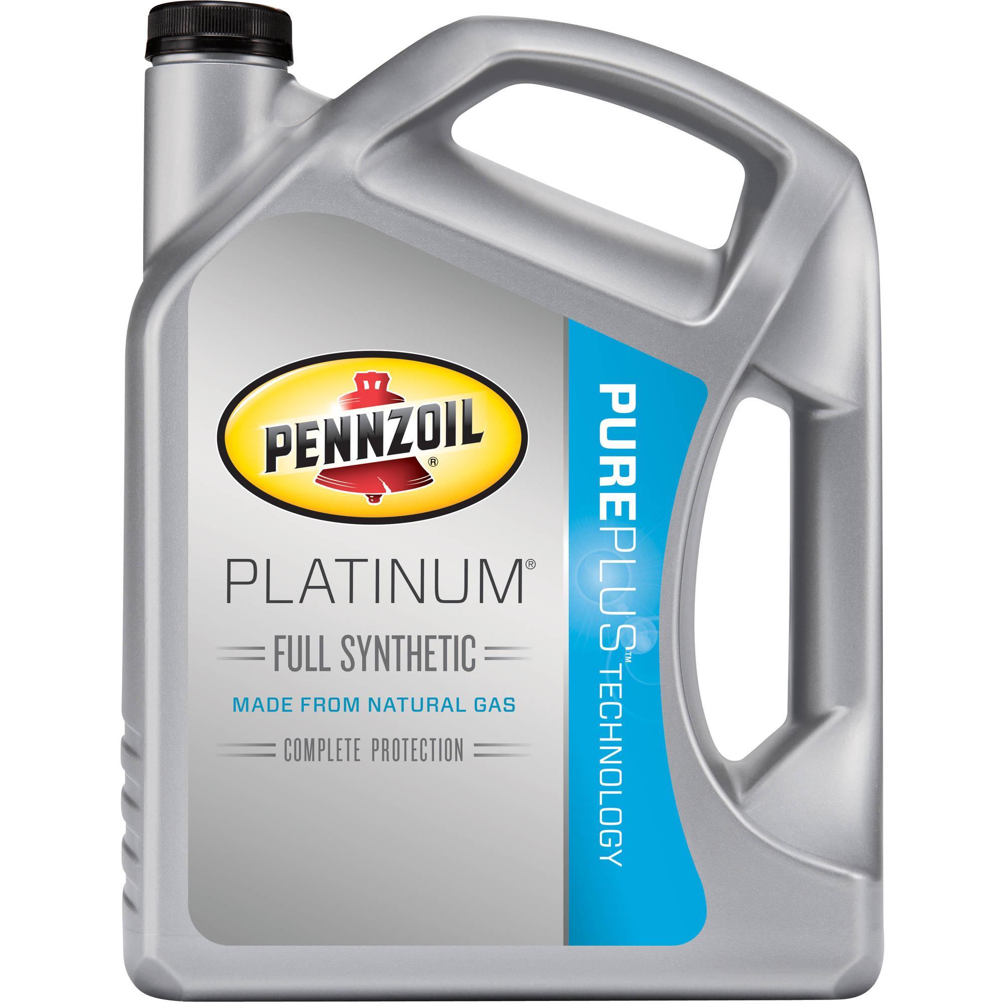 5 Quarts Pennzoil Platinum Full Synthetic Motor Oil (Various Grades) $7.47+tax after Rebates @ Walmart