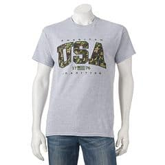 Kohl's Cardholders: Men's Patriotic Tee 2 for $7 + free shipping ($3.50 each when you buy 2)