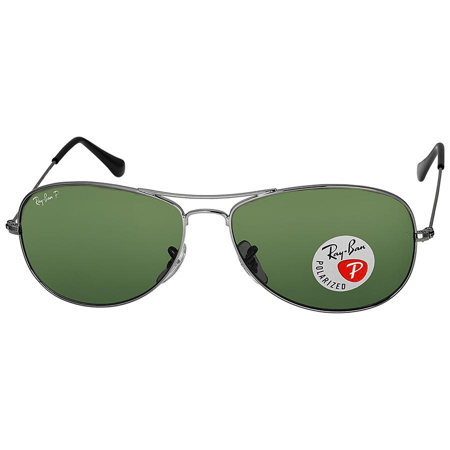 Ray-Ban 59mm Cockpit Gunmetal Green Polarized Sunglasses  $80 + Free Shipping