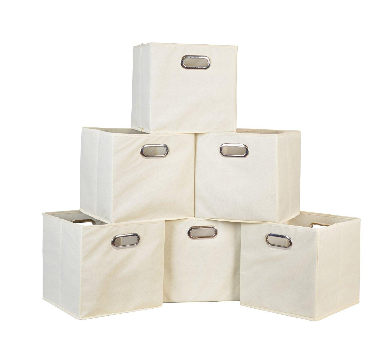 Set of 6 Niche Cubo Foldable Fabric Storage Bins (Natural) $13.55 @ Amazon