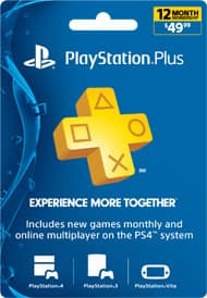 PlayStation Plus 1 Year Code PSN for $38.99 from SaugaGamers PS+ Network