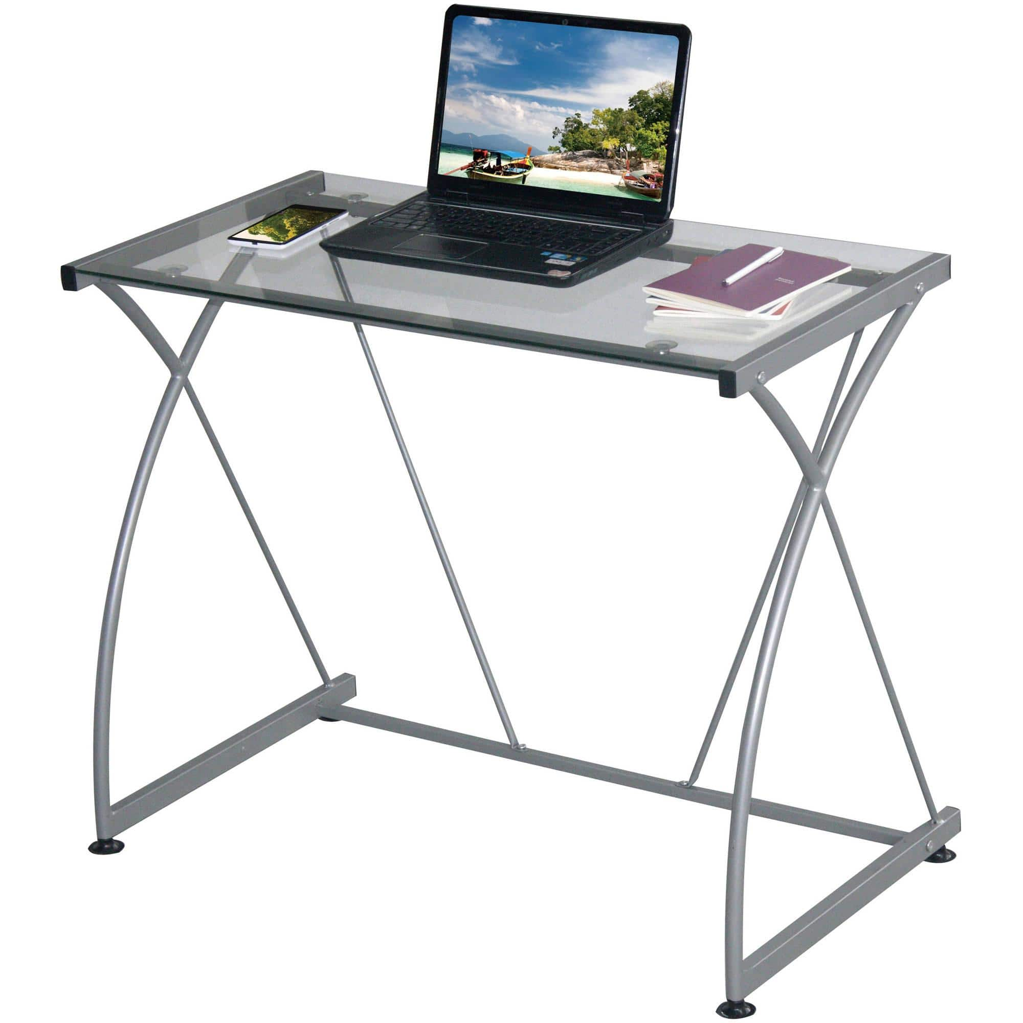 Techni Mobili Tempo Grey Desk  $22.60 + Free Site-to-Store Shipping