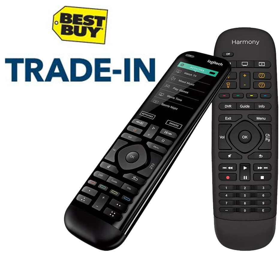 Logitech Harmony elite $250 or Harmony home control $100 after trade @ bestbuy