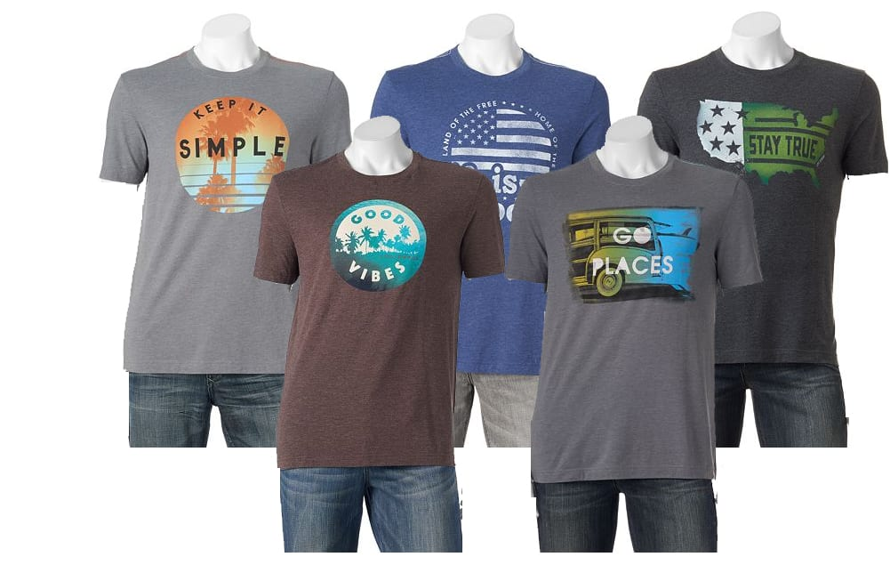 Kohls Cardholders: Men's Life is Good Tees 5 for $24.50 + free shipping ($4.90 each when you buy 5)