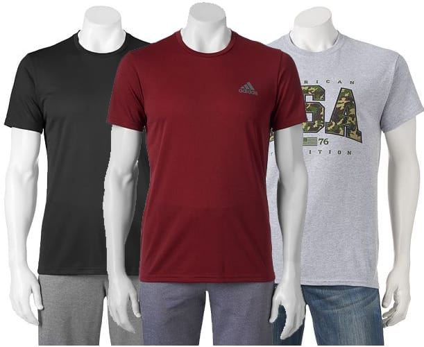 Kohl's Cardholders: 2x Adidas Men's ClimaLite or ClimaCore Tee + 1x Patriotic Graphic Tee $21.68 & More + Free Shipping
