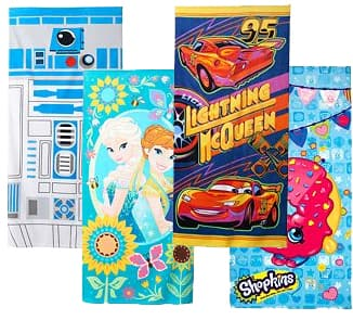 Kids' Beach Towels (Star Wars, Frozen, Marvel Captain America, More) 4 for $18.70 + free store pickup at Kohls  ($4.67 each when you buy 4)