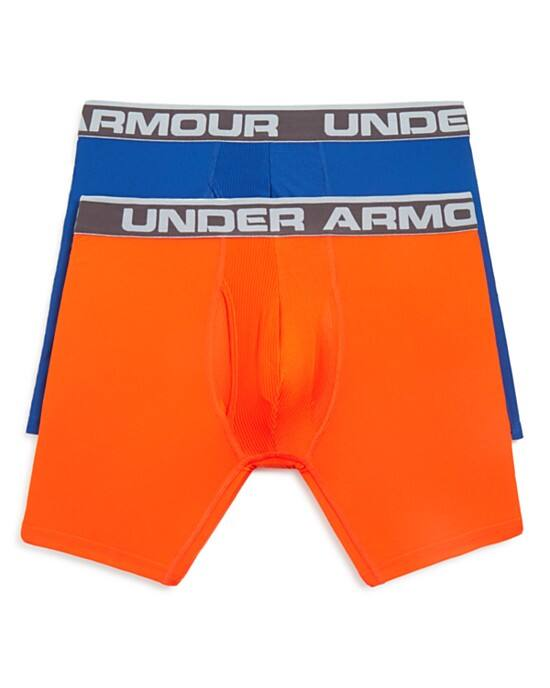 "2-Pack Under Armour Men's Original Series 6"" Boxer Briefs (blue/orange- Large only) $15 + free shipping"